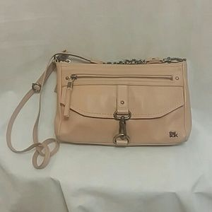 The Sak Soft Pink Leather Crossbody Bag Purse